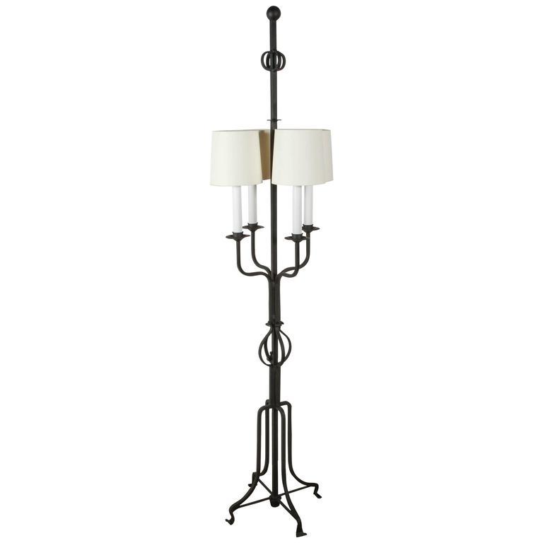 Tommi Parzinger Iron Floor Lamp For Sale