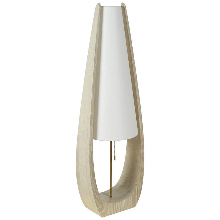 Wishbone Table Lamp in Gray Ceruse Oak 1