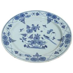Dutch Delft Blue and White Charger, circa 1800