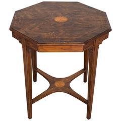 Antique English Rosewood Octagon Table, circa 1910
