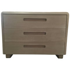 Minimalist Mid-Century Dresser in Gray Finish