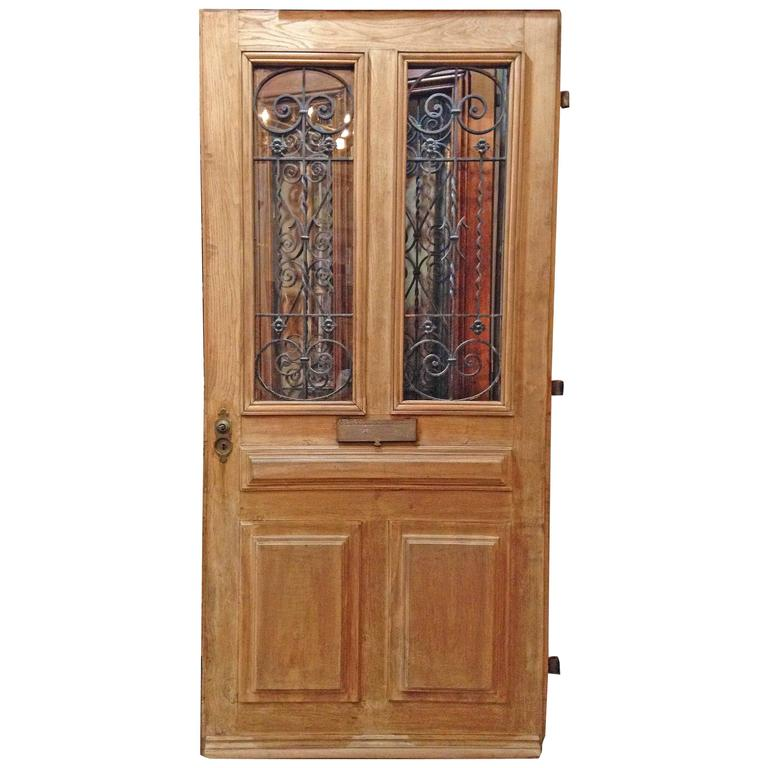 Antique Oak Entry Door For Sale At 1stdibs