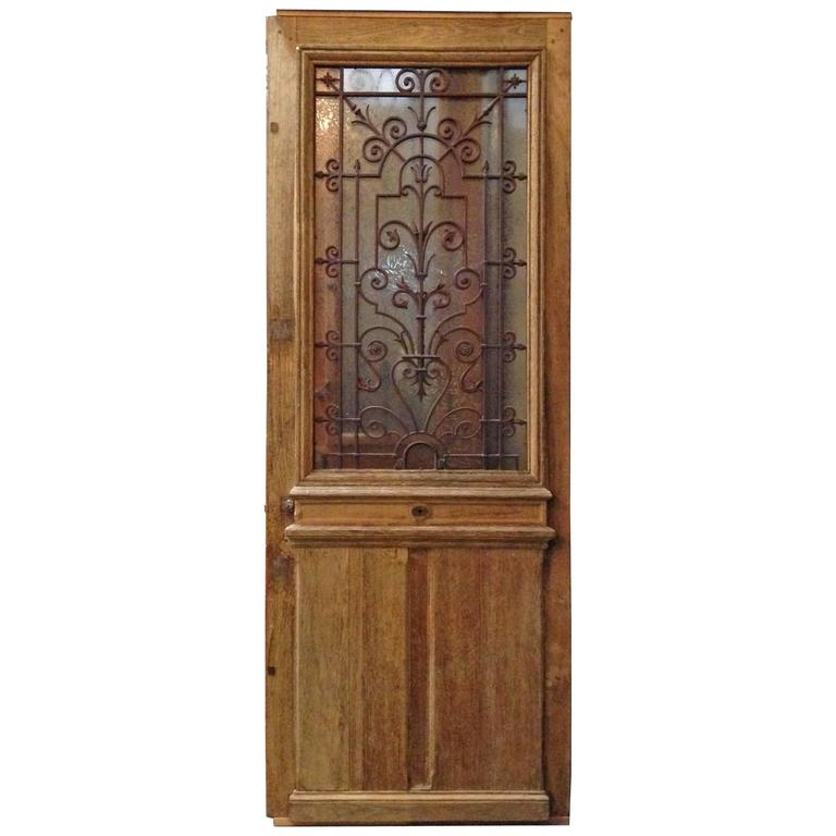 Antique Single Door With Ironwork At 1stdibs
