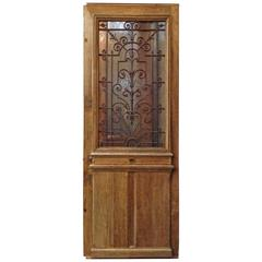 Antique Single Door with Ironwork