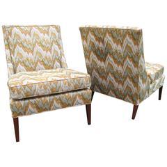 Pair of Mid-Century Slipper Chairs, Style of Paul McCobb