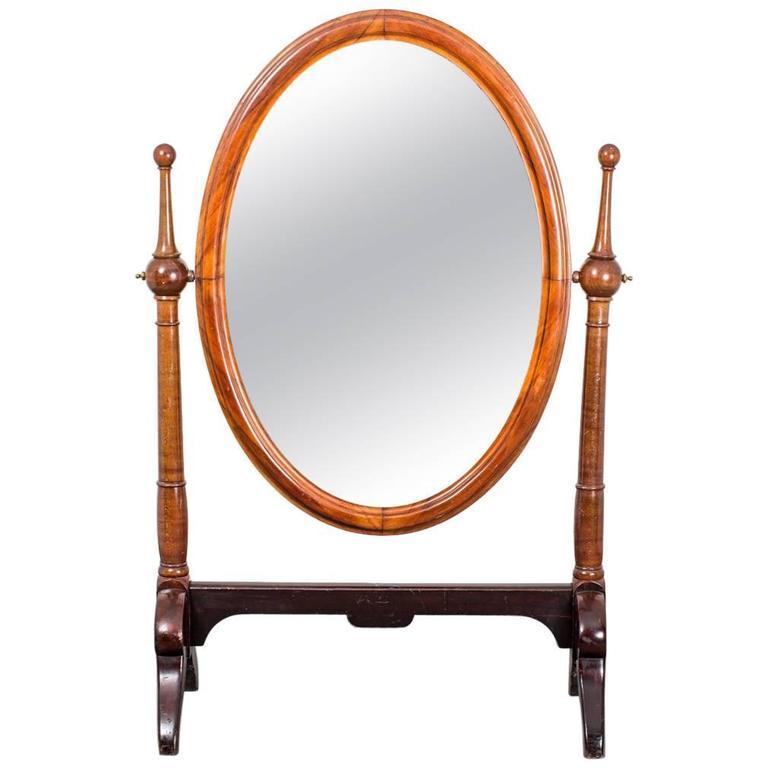 Mirror Standing Mahogany Early 19th Century