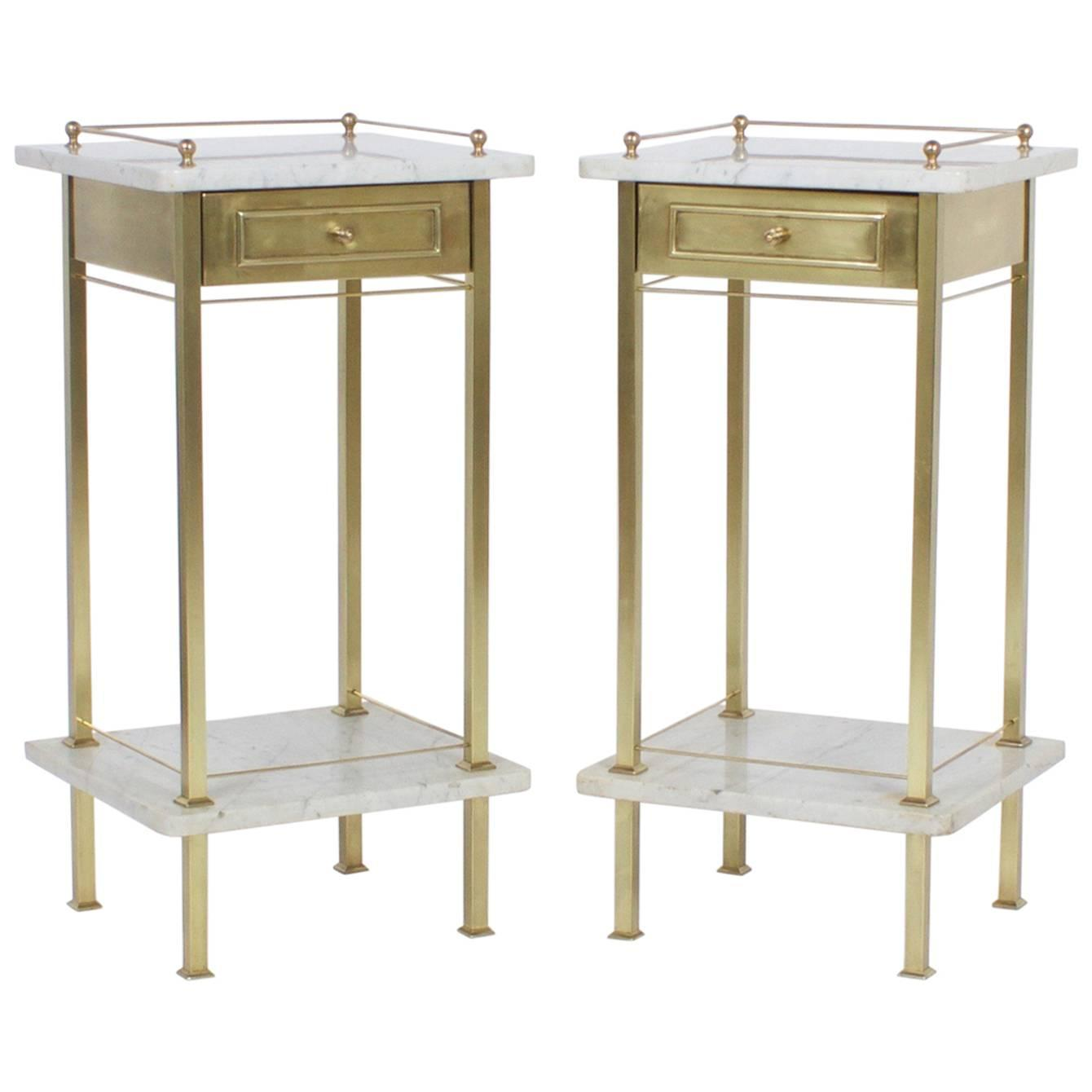 Pair of British Colonial Style Bamboo Nightstands at 1stdibs