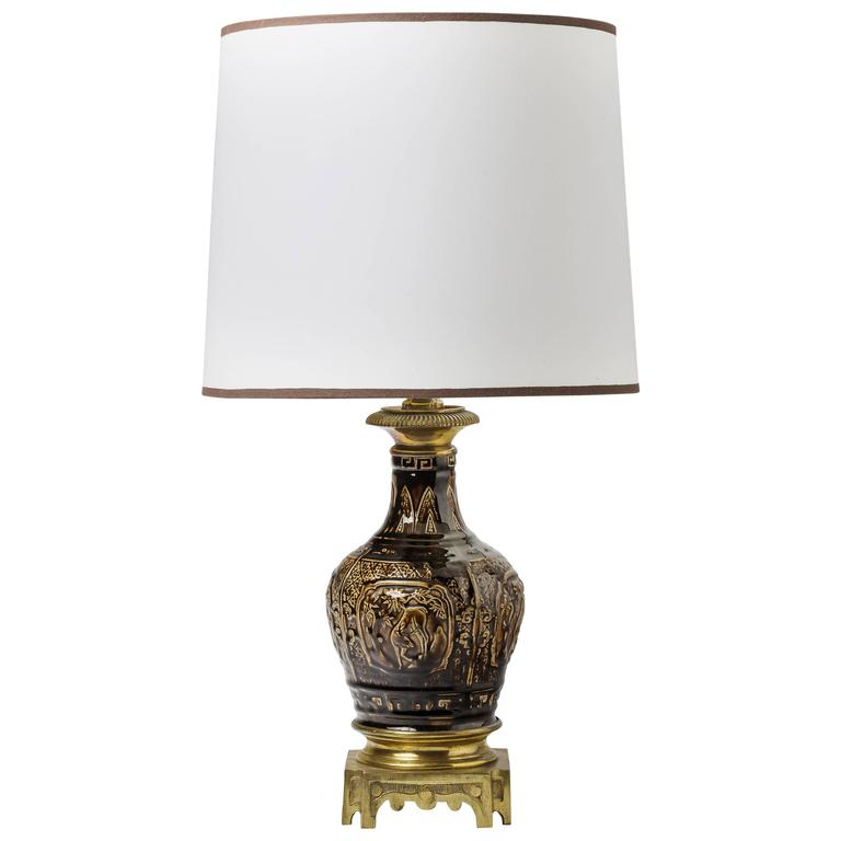 Theodore Deck Beautiful Table Lamp Year 19th Century