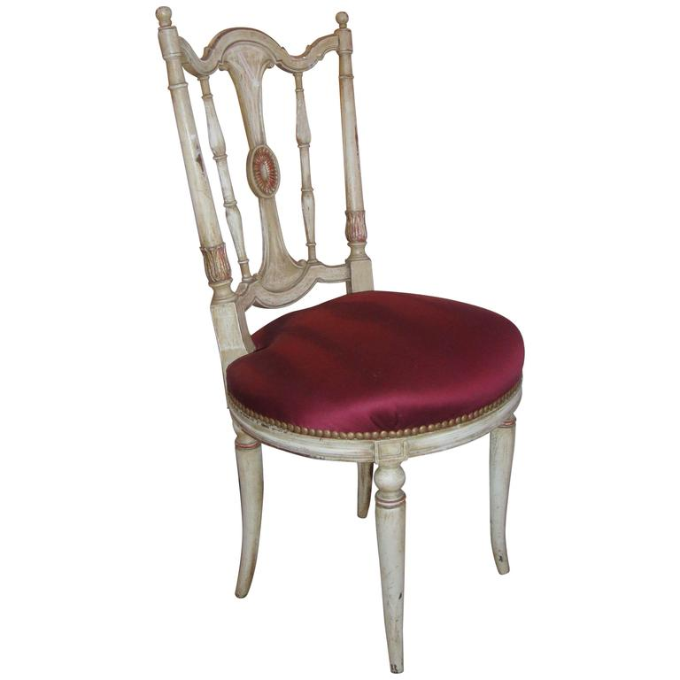 Distress Painted Lady's Side or Desk Chair