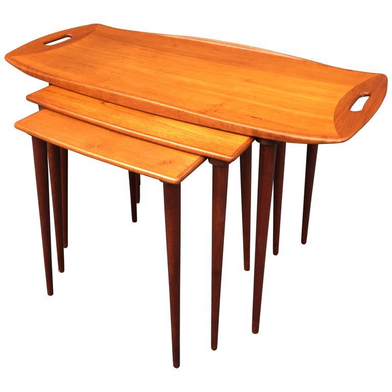 Jens Quistgaard Nest of Three Teak Tables