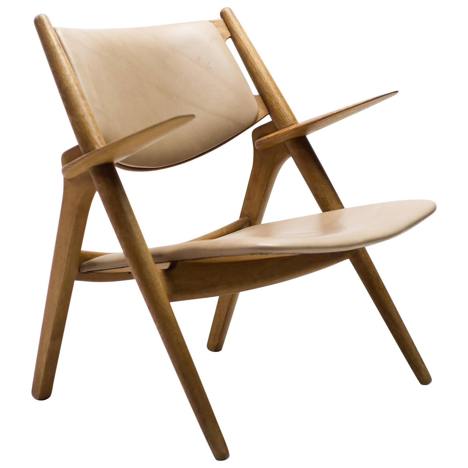 Hans Wegner CH 28 Sawbuck Chair For Sale at 1stdibs
