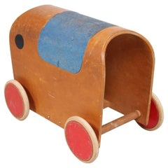 European 1950s Elephant Toy Car, Mid-Century Period
