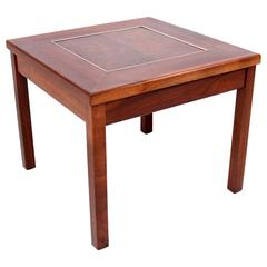 Brown Saltman Solid Walnut Side Table by John Keal