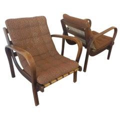 Set of Two Lounge Chairs by Karel Kozelka & Antonin Kropacek
