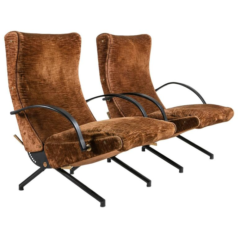Pair of P40 Lounge Chairs by Osvaldo Borsani for Tecno