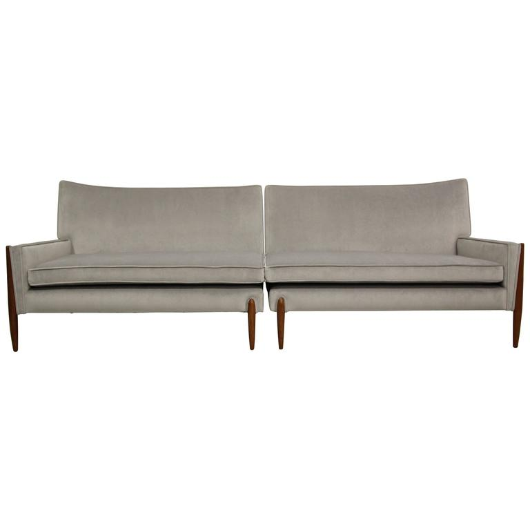 Pair Of Mid Century Sofas By Jules Heumann For Metropolitan Furniture