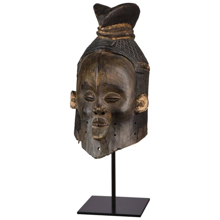 Late 19th Century Tribal Suku Helmet Mask