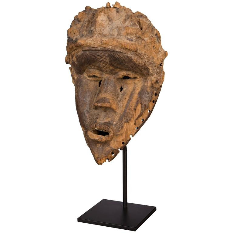 Late 19th Century Tribal Bassa Mask