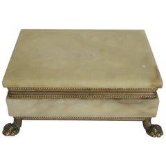 Italian Alabaster and Brass Box