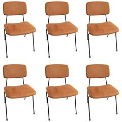 Set of Six Chairs and One Stool by Daciano da Costa