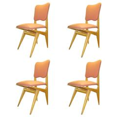 Set of Four Dining Chairs by Guillerme & Chambron