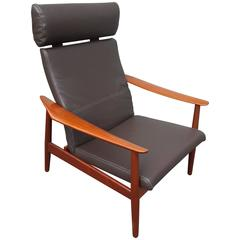 Arne Vodder FD-164, Teak Recliner, Adjustable 3-Positions, France & Son Denmark