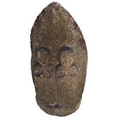 Important Ancient Japanese  Stone Protector Figure  Double Jizo Buddha
