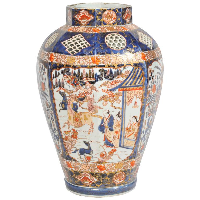 Large Pair Of Antique Japanese Imari Vases For Sale At 1stdibs