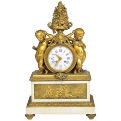 19th Century French Mantel Clock, by 'Monbro Aine, Paris'