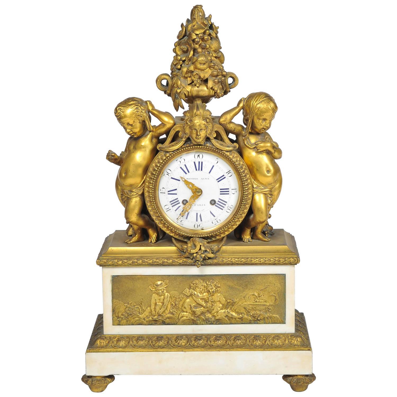 19th Century French Mantel Clock By Monbro Aine Paris