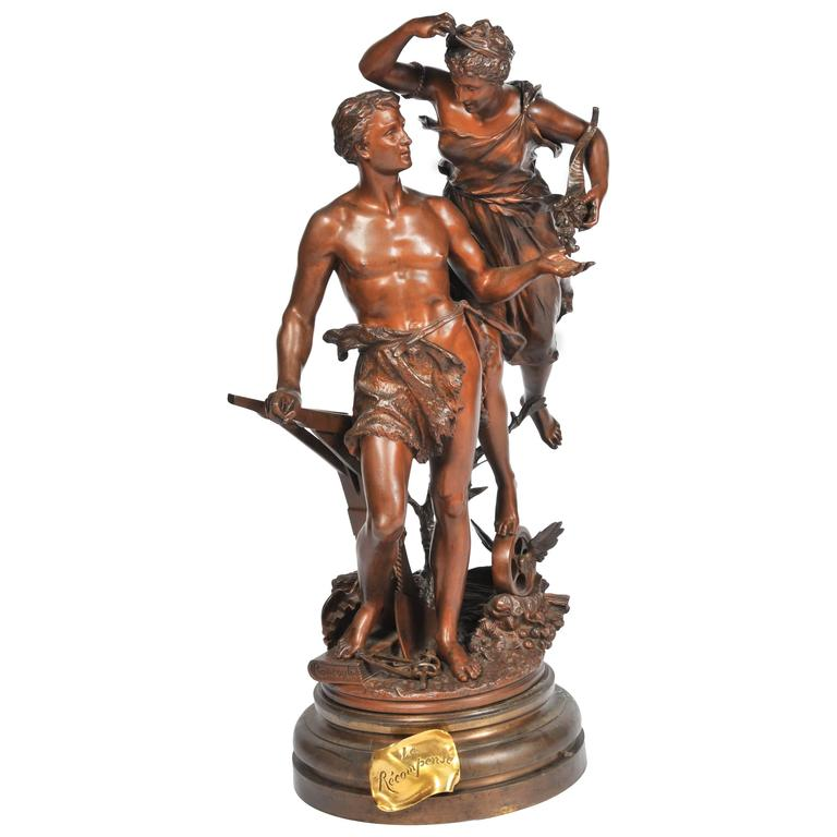 Rancoulet Bronze Entitled ' La Recompense'
