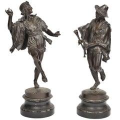 Pair of Bronze 19th Century Neapolitan Dancers