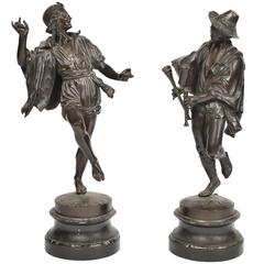 Pair of Bronze 19th Century Neapolitan Dancers