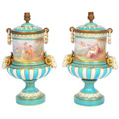 Pair of 19th Century 'Sevres' Vases/Lamps