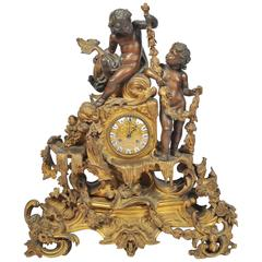 Large 19th Century Louis XVI style Mantle Clock