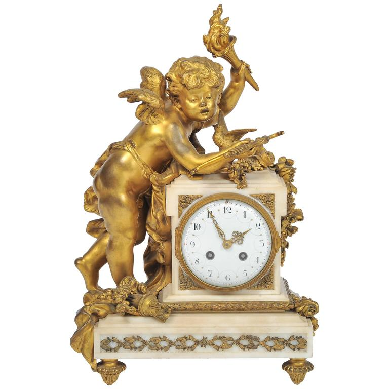 Louis XVI style Mantle Clock, 19th Century For Sale