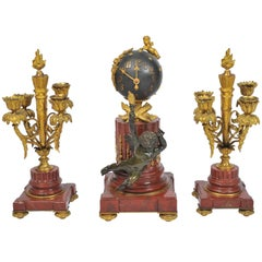 19th Century French Clock Set