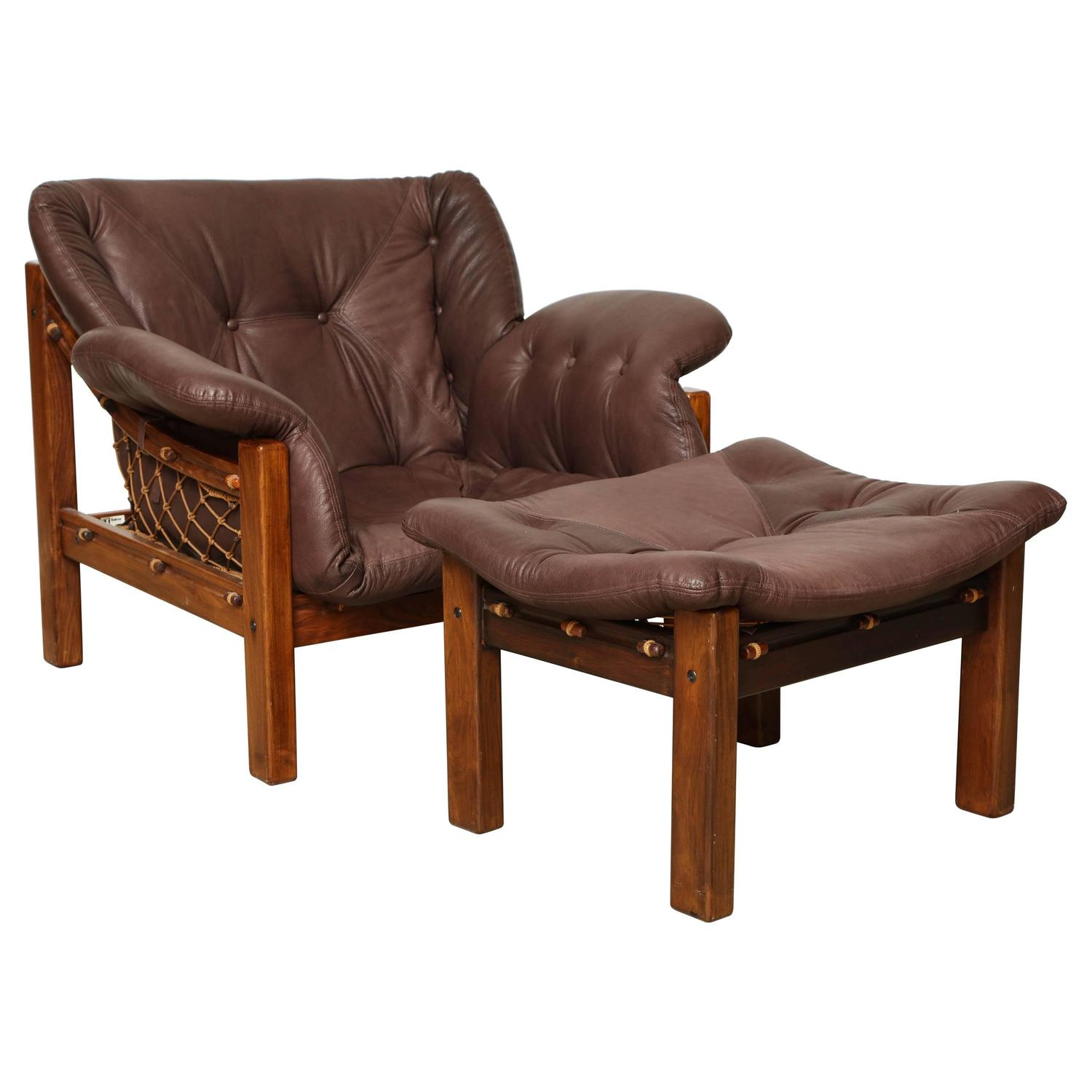 Surprising Jean Gillon Chair And Ottoman At 1Stdibs Unemploymentrelief Wooden Chair Designs For Living Room Unemploymentrelieforg