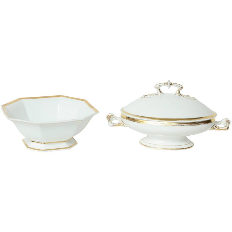 Pair of French Porcelain Serving Dishes