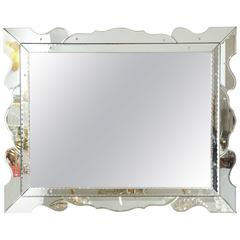 Italian 1950s Modernist Venetian Mirror