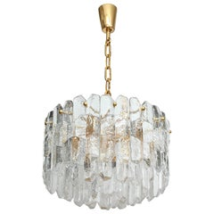 Kalmar Chiseled Ice Glass Chandelier