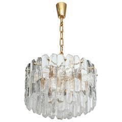 Kalmar Chiseled Ice Glass Chandelier