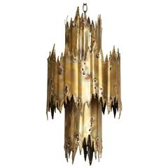 Tom Greene Brutalist Chandelier