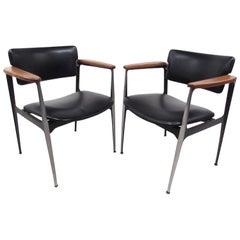 Pair of Stylish Mid-Century Modern Armchairs