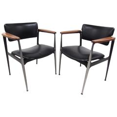Pair of Stylish Mid-Century Modern Armchairs