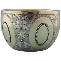 Victorian Parcel-Gilt Bowl by George Fox