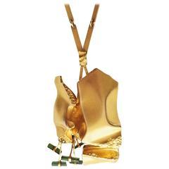"BJÖRN WECKSTRÖM, 14 K Gold Necklace ""Spring of Meriba"" Finland 1976"