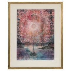 Exceptional Bauhaus Watercolor by Henri Pfeiffer, Signed, 1928