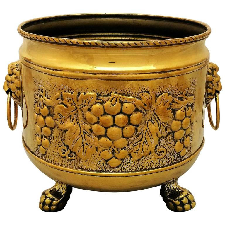 French Jardiniere or Planter of Brass with Lion's Head
