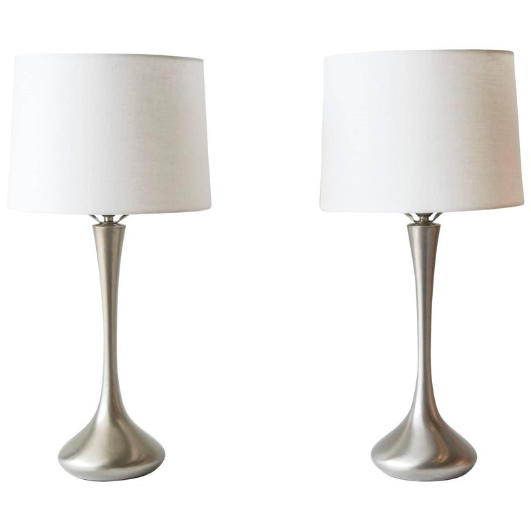 Satin Chrome Genie Lamps by Laurel